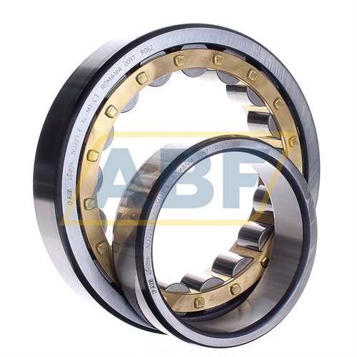 High Capacity FAG NU2211E-M1-C3 Cylindrical Roller Bearing 25mm Width 55mm ID Brass Cage Removable Inner Ring 100mm OD Straight Bore C3 Clearance Single Row